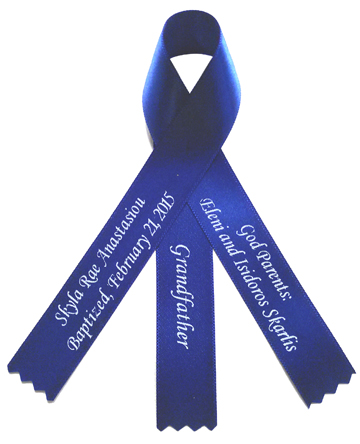 Famous Personalized Ribbons | Personalized Sashes | Personalized Favors  PV43