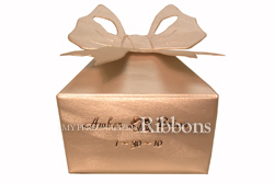Personalized Bow Favor Box - Personalized Favor Boxes